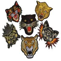 ingrosso zakka animali-Patch 1 pezzo ricamato zakka tigre di ferro cucito zakka appliques accessori testa di animale per cucire