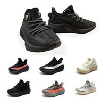 spor ayakkabıları çocuk spor ayakkabıları toptan satış-Statik 2.0 Çocuk Çocuk Gençlik Krem Tüm Beyaz Bebek Bred Beluga Siyah Kırmızı bebekler Kany West Koşu Ayakkabıları Spor Sneakers