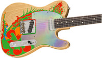 ingrosso negozi di opere d'arte-Pre-ordine Custom Shop Masterbuilt Jimmy Page Dragon Electric Guitar Natural w / Artwork