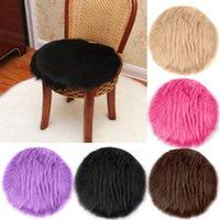 ingrosso coperture di sedia blu-2018 New Soft Artificiale pelle di pecora tappeto coprisedile lana artificiale caldo peloso tappeto sedile # NE830