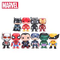 conjunto de bonecos vingadores venda por atacado-10cm 10pcs / set Justice League Avengers Figura Set Super Herói Personagens Modelo Vinyl boneca figuras colecionáveis modelo Marvel Toys