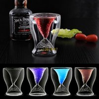 Wholesale folk art fish for sale - Group buy 25pcs Beauty Fish Cup Fashion Creative Juice Drink Ice Cream Double Glass Red Wine Whiskey Cup