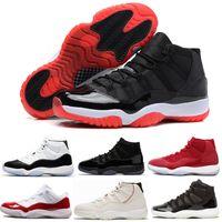 gece elbiseleri erkekler toptan satış-11 11 s Bred Concord 45 Efsane Mavi Basketbol Ayakkabı 72-10 Erkek Kadın Kap ve Cüppe Balo Gece Space Jam 96 kutu gibi Spor Sneaker ...