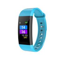 Wholesale fitbit watches online – Waterproof Swimming Smart Bracelet Fitness Tracker Smart Wristbands I9 Fitbit inch LCD Screen Watch Heart Rate Blood Pressure Monitor