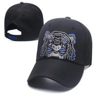 marka nakışı toptan satış-Tasarımcı Şapka Kapaklar Erkekler Beyzbol Şapkası Mens Womens için Marka Kap Ayarlanabilir Kaplan Nakış Şapka Üstün Kalite 4 renkler Isteğe Bağlı