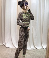 Wholesale two piece sequin set for sale - Group buy 19ss Autumn Sequins Autumn Women s Pullovers Letter knitwear Women s Tops hoodie sweater and pants Women s Two Pieces Sets