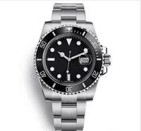diseñador de relojes de acero para hombre al por mayor-Bisel de cerámica superior de lujo para hombre 2813 Reloj de movimiento automático de acero inoxidable mecánico Reloj deportivo de diseño automático Relojes de pulsera maestros