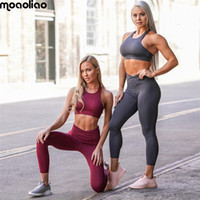 Wholesale animal print vest for women for sale - Yoga Suit Sport Set Women s Tracksuit Tights Sportswear Fitness For Female Gym Clothing Workout Two Piece Jumpsuit Crop Q190521