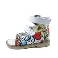 baby schuhmuster sandalen großhandel-2019 neueste Sommer PU Leder Muster Schuhe Für Mädchen Kinder Sandalen Kinder Orthopädische Schuhe Baby Mädchen Schuhe Mit Schnalle