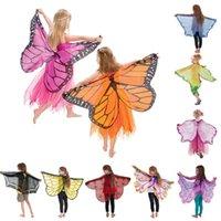 asas para trajes venda por atacado-Asas de borboleta Traje Asa Cosplay com Máscara de Halloween Traje para Crianças Meninos Meninas Favor de Partido