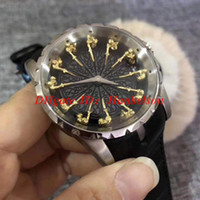 Knights of the Round Table watches montre de luxe automatic watch Leather strap folding buckle