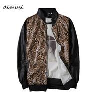 leopar eşofman erkek toptan satış-DIMUSI Erkekler Ceketler Moda Hip Hop Streetwear Leopar Mont Erkek Rahat Kamuflaj Dış Giyim Eşofman Marka Giyim, YA730