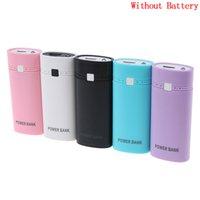 Wholesale usb battery holder resale online - 5V USB Ports x DIY Portable Battery Holder LCD Display Power Bank Case Box