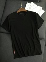 weste t-shirt männer xxl großhandel-19ss Neue Ankunft PRAD Männer Paris Liebhaber Baumwolle T-shirts Druck Kurzarm Sommer T Atmungsaktive Weste Hemd Im Freien T-shirt