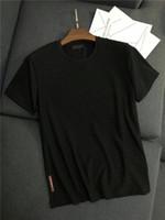 chalecos de hombre impresos al por mayor-19ss Nueva Llegada PRAD Hombres Amantes de París Camisetas de Algodón de Impresión de Manga Corta Camiseta de Verano Chaleco Transpirable Camiseta Al Aire Libre