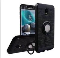 xperia mini tpu toptan satış-Sony M2 için Aqua xperia Z1 mini C5 Ultra XA XA1 L1 360 Halka KickStand Çift Katmanlı Dayanıklı Manyetik Arka Kapak