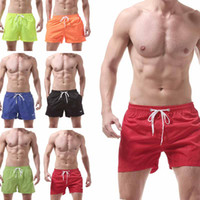 erkek kısa mayo toptan satış-Erkek Mayo Yüzmek Şort Sandıklar Plaj Kurulu Şort Yüzme Kısa Pantolon Mayolar Erkek Koşu Spor Surffing şort drop shipping