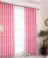 serviette noire chaude achat en gros de-2020 vente chaude Rideau Usine direct style coréen pastorale velours broderie pissenlit rideau tissu en gros serviette rideaux de broderie