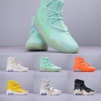 zapatillas frescas corte alto al por mayor-2019h Utility Classic Fear of God 1 Men Designer Sneakers High Quality High Cut Running Shoes Cool Fashion Zapatos cómodos y casuales36-46