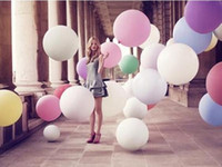 Wholesale big balloons 36 inch resale online - 36 Inch Super Big Large Wedding Decoration Birthday Party Ballons Thickening Multicolor Latex Giant Huge Balloon Mini Order