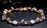 pulseras brazalete de oro amarillo al por mayor-Trove oro amarillo de 18 quilates chapado en plata de ley detalle de diamante en dos tonos de la piedra preciosa pulsera brazalete de tenis de diamantes en oro rosa pulsera
