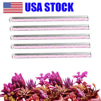 Wholesale led grow light resale online - T8 LED Grow Light FT FT FT Plant Grow Light Bar Strip Tube Full Spectrum Sunlight Replacement with High PAR for Indoor Plant USA STOCK
