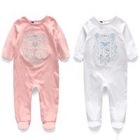 underwear de criança menino marca venda por atacado-Novas Crianças pijamas macacão de bebê recém-nascido roupas de bebê Meia manga roupas íntimas de algodão traje meninos meninas outono macacão