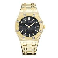 relógios de pulso mais legais venda por atacado-2019 Simples Mens Relógios Cool Luxury Relógios De Pulso À Prova D 'Água de Aço Inoxidável Moda Calendário De Quartzo Homens Relógio Atacado BB
