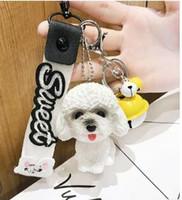 ingrosso nastro di orsacchiotto-2019 creativo carino nuovo Teddy dog bambola nastro portachiavi borsa delle signore appesi ornamenti piccoli regali dello studente