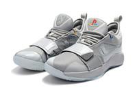 niedrige spitzenbasketballschuhe für verkauf großhandel-Graue Schuhe PG 2.5 Playstation Wolfs für Verkäufe mit Kasten-Spitzenqualität neue Paul George Basketball-Schuhe geben Verschiffen BQ8388 frei