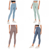 Wholesale sexy women tight yoga pants resale online - LU Exercise Yoga Tights Pants Skinny Solid Color Elastic High Waist Slim Leggings Pant Womens Sexy Trouser Female Apparel Clothing dq E19