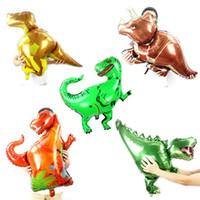 schlauchboote spielzeug für kinder großhandel-HOT 9 Arten Folienballon Dinosaurier Party Dekoration Aufblasbare Raubvogel Jurassic Park Thema Geburtstag Kinder Spielzeug