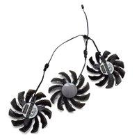 gráficos de fã gigabyte venda por atacado-Nova 75 MM T128010SU PLD08010S12H 3Pin 0.35A Cooler Fan Substituição Para Gigabyte 7970 GTX 970 GAMING G1 Placa Gráfica de Refrigeração