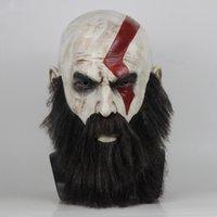 ingrosso costumi di compleanno per adulti-God of War 4 Mars Mask Full Face Latex Maschera per adulti Costume di Halloween Cosplay Dance Party Carnival Maschere di compleanno Forniture