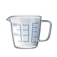 ingrosso coperture a microonde-Bicchiere graduato per misurazione della temperatura Microonde Riscaldamento Bicchiere Bicchiere per acqua Bicchiere per acqua latte doppio strato con coperchio trasparente 13hh C1