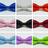 Wholesale girls bowties resale online - Kids bowties bow tie Boys Girls bowtie baby bow ties fashion neckwear for Wedding Party Children Christmas Gift