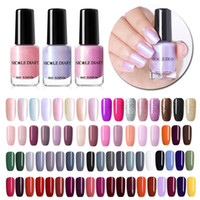roter nagelglanz großhandel-NICOLE DIARY 73 Colors Nagellack Nude Rot Grau Glitter Pearl Nail Art Lack Maniküre auf Wasserbasis 6ml