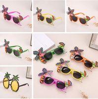 óculos fantasia vestido venda por atacado-Flamingo Partido Óculos abacaxi Havaiano Praia de Cerveja Óculos de Sol Cosplay Noite Palco Fancy Dress up Óculos Máscara Crianças Sunblock 120 pcs
