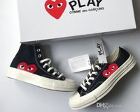 Wholesale eyes shoes online - 2019 New Play All Stars shoe CDG Canvas converse With Eyes Hearts Brand Beige Black designer casual running Skateboard Sneakers