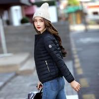 baumwoll-winterjacke für damen großhandel-2018 europa und Amerika Mode Kurzjacke Frauen Herbst und Winter Dünne Licht Mantel Weibliche Baumwolle Polsterung Plus Größe 3xl Mäntel