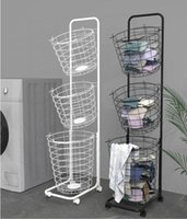 Wholesale organization shoes resale online - Storage rack clothes Lou basket laundry basket Organization household basket classification Nordic multi layer dirty basket iron
