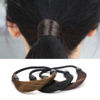 корейский конский парик оптовых-Arherigele 1pcs Elastic Hair Bands for Women Hairband Girls Korean Wig Hair Ponytail Holder Rope Headwear Accessories