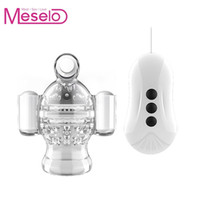 Wholesale sex trainer for men for sale - Group buy Meselo Remote Control Glans Stamina Trainer Penis Vibrating Massager Waterproof Sex Toys For Men Sex Toy Male Penis Training New Y19061702