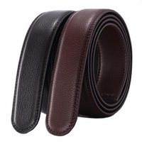 Wholesale male body straps for sale - Group buy No Buckle Belt Body Strap Without Buckle Belts Mens Good Quality Male Black Coffee Belts Automatic Belt For Men