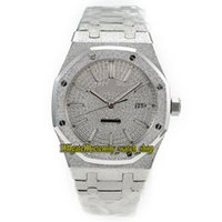 Wholesale butterfly platinum for sale - Group buy N9 Platinum plated version Royal Series BC GG BC Frost Silver Case Cal Automatic Mens Watch Diamonds Dial Luxury Watches