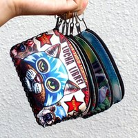 Wholesale elephant purse for sale - Group buy New graffiti cat elephant owl coin purses card Handmade Change purse zero wallets women clutch zipper coins bag pouch