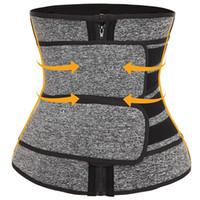 Premium Neoprene Waist Trainer Slimming Belt Body Shaper Bands Double Straps Cincher Corset Fitness Sauna Sweat Belt Girdle Shapewear DHL
