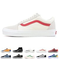 Wholesale top skate resale online - 2019 VANS SK8 Hi Classic Old Skool White zapatillas de deporte Mens High top fear of god Canvas Casual Skate Shoes Mens Trainers Sneakers