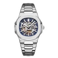 top moderne achat en gros de-2019 TOP Mens Designer Watches Automatic Nautilus Watch Mode Mécanique Moderne évidement Steel Business Casual Wristwatches