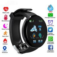 venta de relojes inteligentes al por mayor-Última venta caliente de tensión inteligentes pulseras monitor de ritmo cardíaco sangre SmartWatch D18 impermeable reloj deportivo reloj del perseguidor